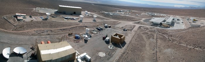 Progress at the ALMA Site - a panoramic view