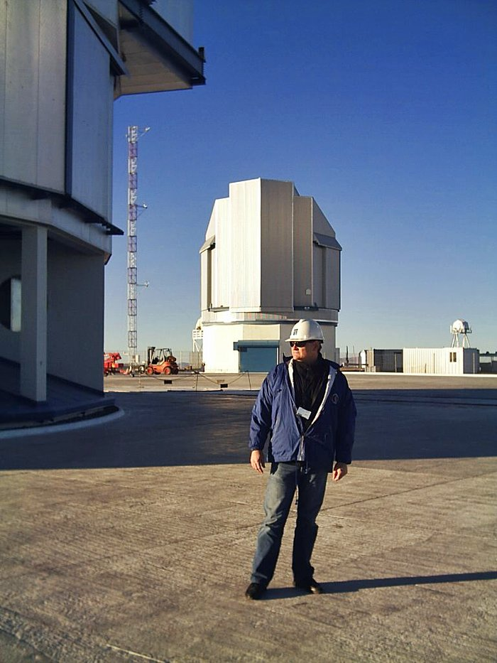The winner of a contest organised by the Süddeutsche Zeitung visits Paranal