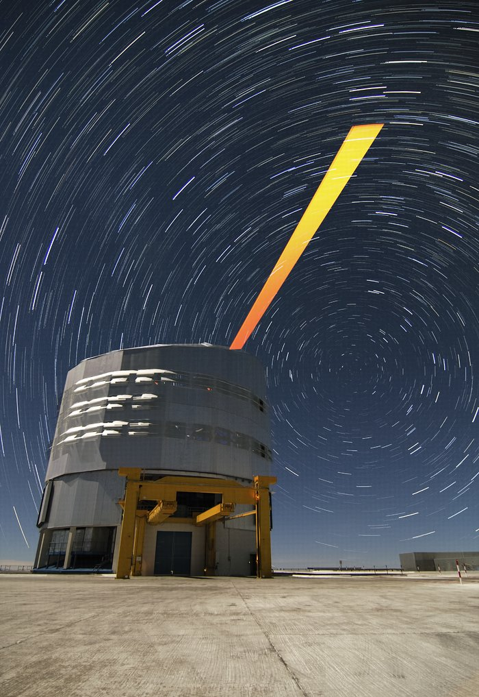 ESO's Paranal Observatory: the VLT's Laser Guide Star and star trails
