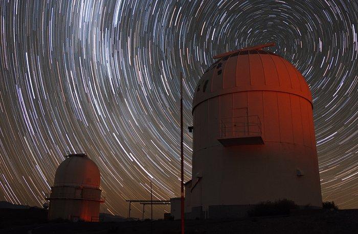 Stars trails over La Silla