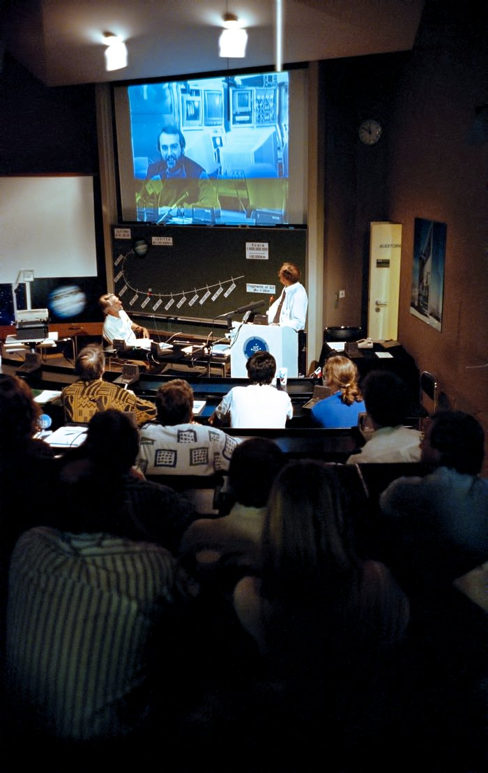 ESO headquarters in Garching during a Comet Shoemaker–Levy 9 symposium, July 1994.