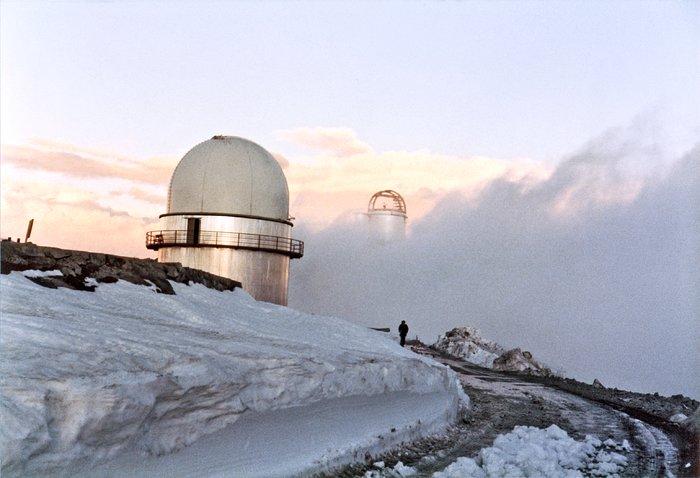 Snowstorm at La Silla