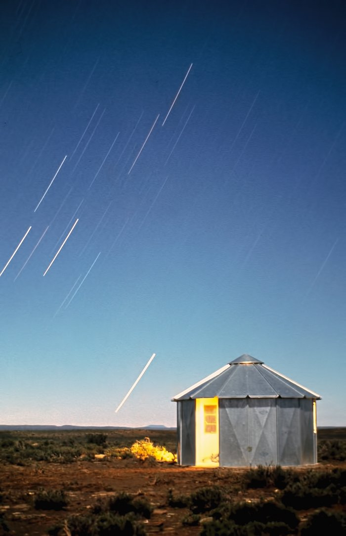 Stars Trails over the Site Testing Station in South Africa