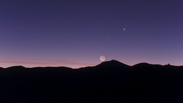 Conjunction seen from Paranal