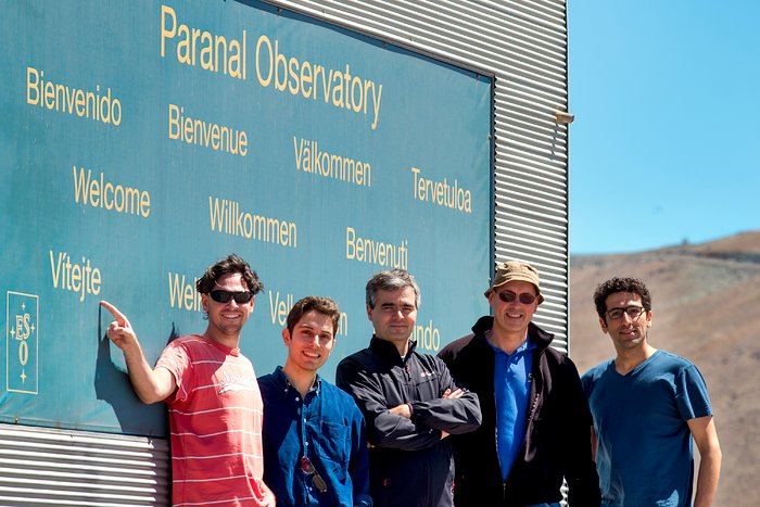 The Fulldome team arrives at Paranal