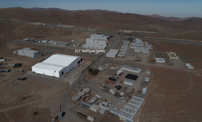 Aerial view of the ELT Technical Facility