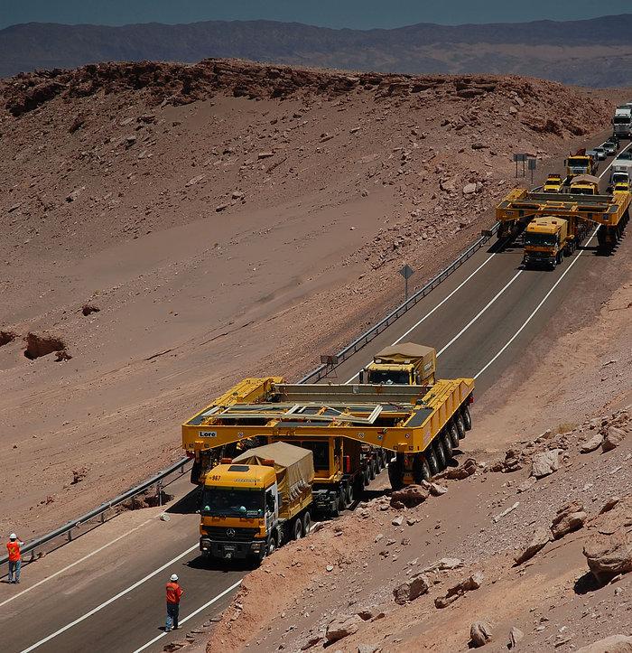 Transportuesit e ALMA-s mbërrijnë në Kili