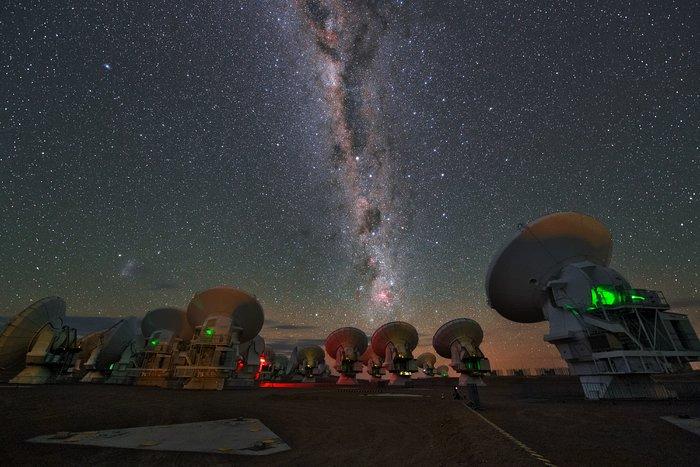 Milchstraße über ALMA