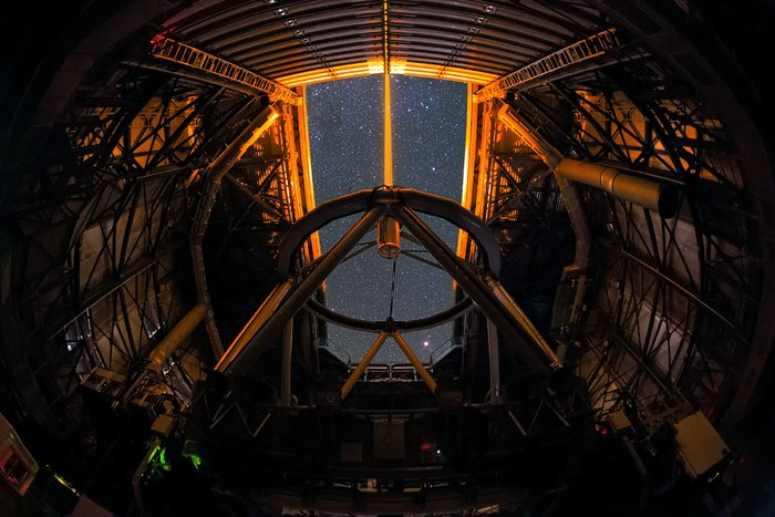 Very Large Telescope Laser Guide Star in UHD