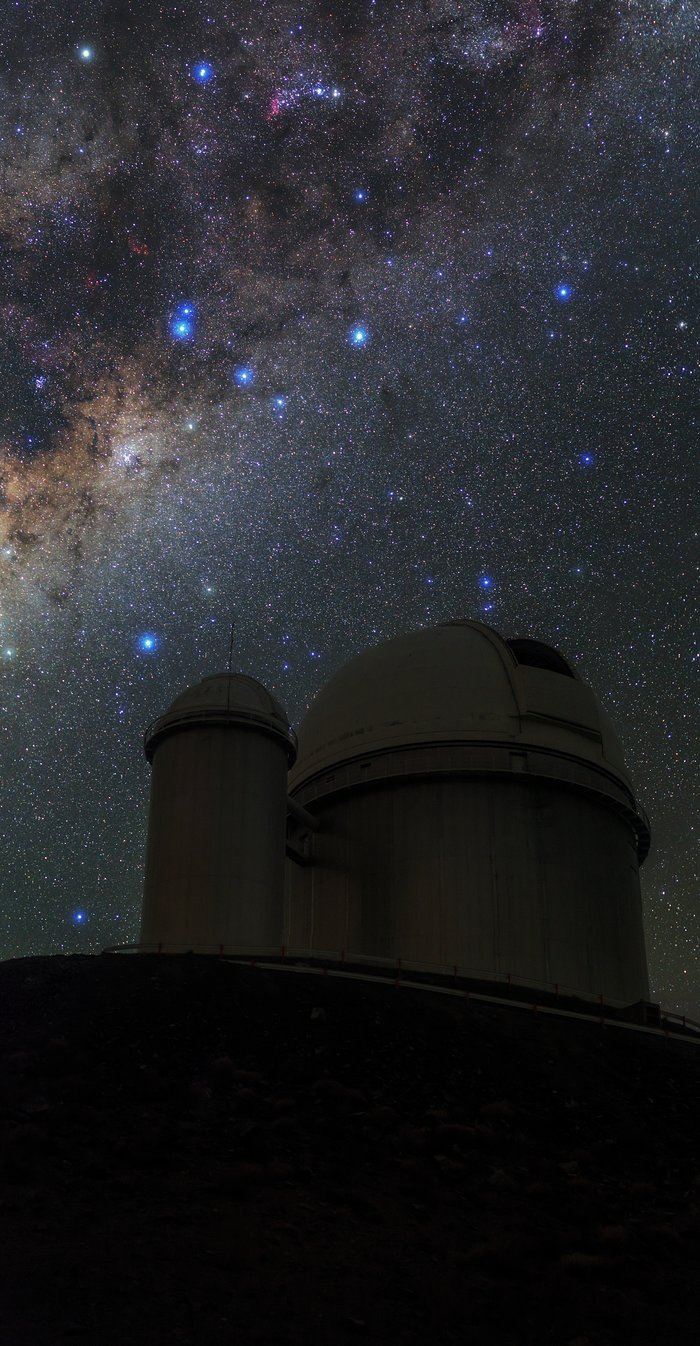 Milky Way stretches over ESO 3.6-metre telescope