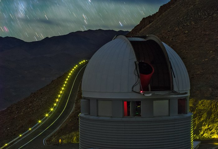 Stars rain down at La Silla