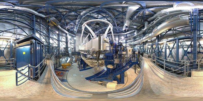 Panorama inside a Unit Telescope