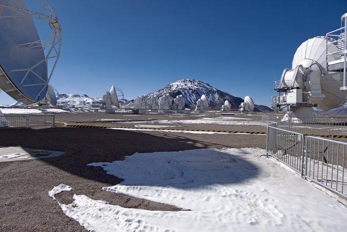 ALMA dwarfed by Licancabur