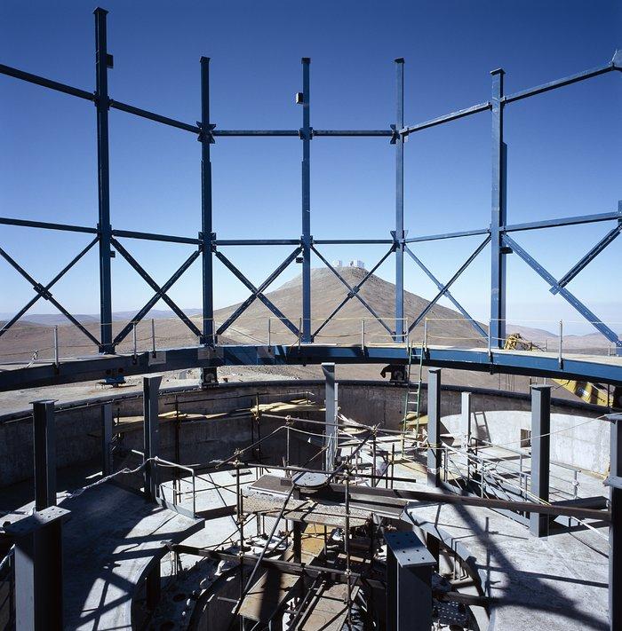 VISTA enclosure during construction
