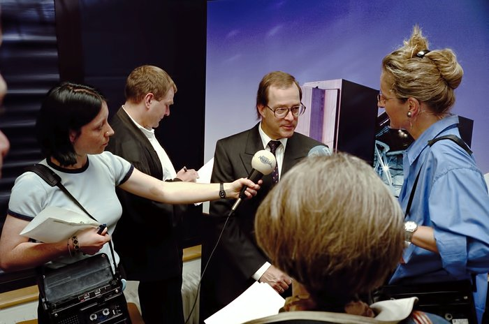 Interviews during VLT press conference