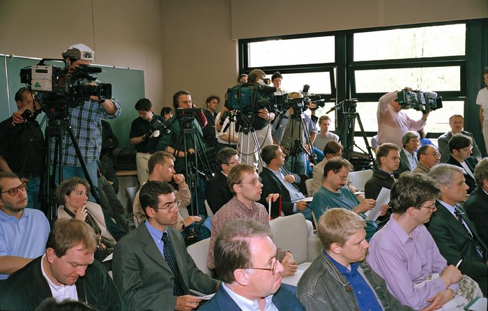 Cameramen during VLT first light press conference