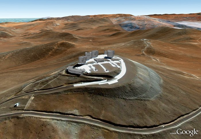 El Very Large Telescope (VLT) de ESO está en Google Earth