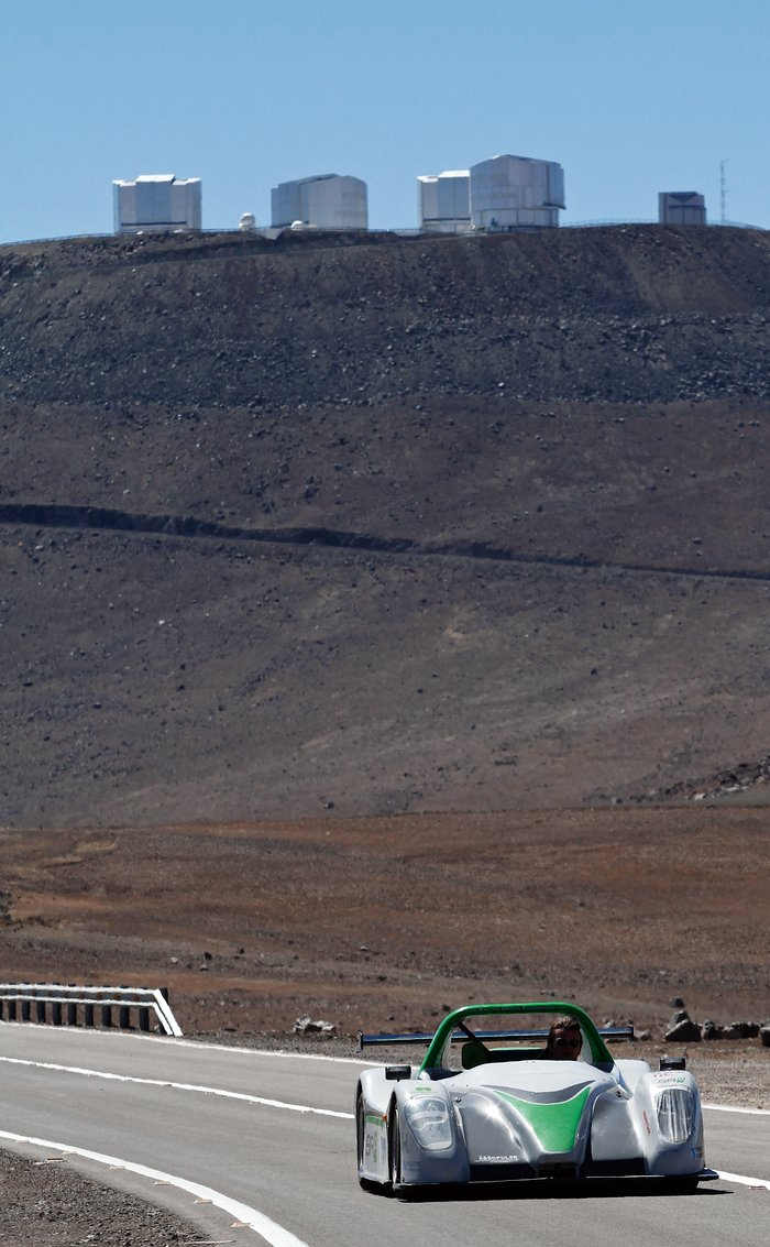 Electric supercar at Paranal