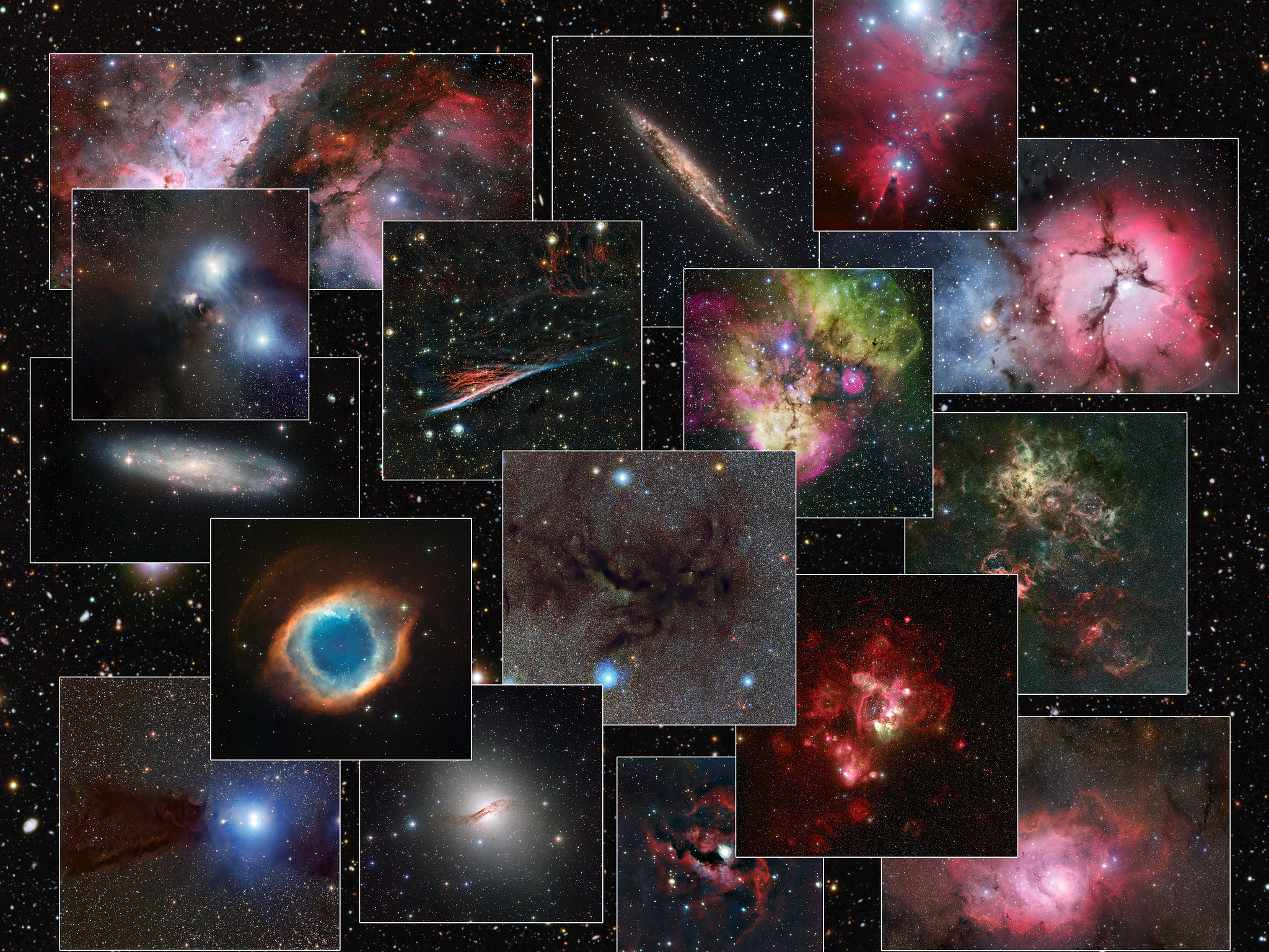 Collage of images from the MPG/ESO 2.2-metre telescope | ESO España