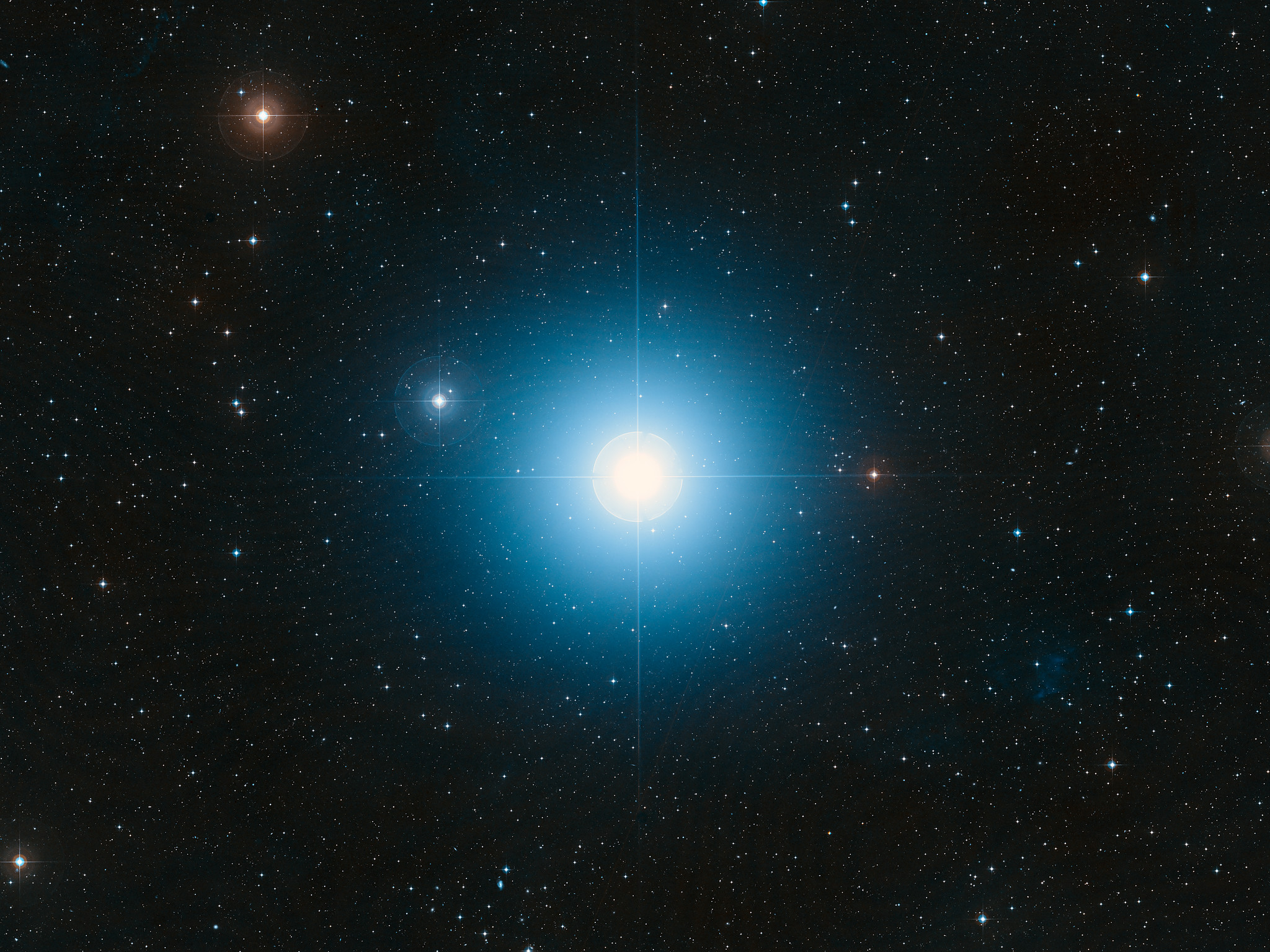 Star Light Star Bright >> Wide-field view of the sky around the bright star Fomalhaut | ESO