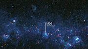 Paneo por parte del Plano Galáctico como es visto por el ATLASGAL
