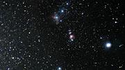 Acercamiento a la imagen infrarroja de VISTA de la Nebulosa de Orión