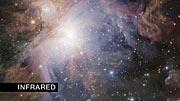 Fundido infrarrojo/visible de la Nebulosa de Orión