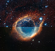 Zooming into the Helix Nebula