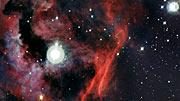 Panorámica sobre la cabeza de la Nebulosa de La Gaviota