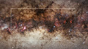 Infrared/visible light comparison of VISTA's gigapixel view of the centre of the Milky Way