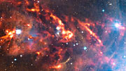 A close look at an APEX view of part of the Orion Nebula