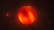 Vue d'artiste de Luhman 16B reconstituée à partir d'observations du VLT