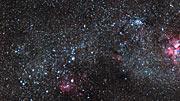 Zoom auf den farbenfrohen Sternhaufen NGC 3590