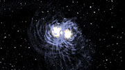 Merger between two galaxies (artist's impression)