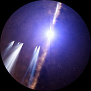 Artist's impression of exocomets around Beta Pictoris (Full Dome)
