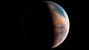 Animation des Mars vor vier Milliarden Jahren