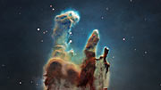 3D datavisualisatie van de 'Pillars of Creation'