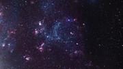 Zoom sulla nube di gas rilucente LH 120-N55 nella Grande Nube di Magellano