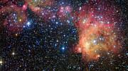 Primo piano della nube di gas rilucente LHA 120-N55 nella Grande Nube di Magellano