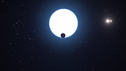 Představa planety obíhající v systému HD 131399