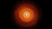 The protoplanetary disc around V883 Orionis (artist's impression)