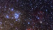 Detailní pohled na oblohu v okolí otevřené hvězdokupy M18