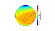 Numerical simulation of possible surface temperatures on Proxima b (3:2 resonance)