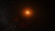 Animation av planeterna i bana omkring TRAPPIST-1