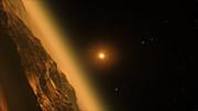 Animasjon av planetsystemet TRAPPIST-1