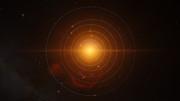 Animation der Planeten um TRAPPIST-1