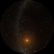 Il sistema planetario di TRAPPIST-1 visto dall'alto (full-dome)