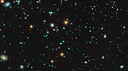 Panorâmica sobre a imagem MUSE do Campo Ultra Profundo do Hubble