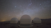 Time-lapse video sequence of the ExTrA planet-hunting facility at La Silla