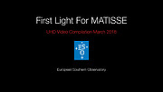 Interferometerinstrumentet MATISSE har first light